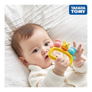 ガラガラ ラトル Dear Little Hands ふりふりリンリン くまのプーさん タカラトミー おもちゃ ベビー 赤ちゃん 出産 お祝い ギフト プレゼント kids baby pinkybabys