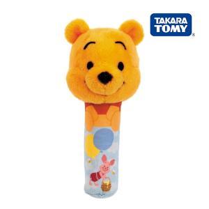 ラトル Dear Little Hands ふりふりピッピ くまのプーさん  タカラトミー Takara Tomy Disney おもちゃ toys ギフト ガラガラ ラトル 安全 安心|pinkybabys