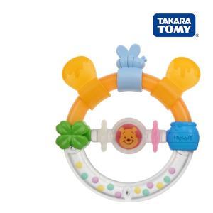 ラトル Dear Little Hands おしゃぶりラトル くまのプーさん  タカラトミー Takara Tomy Disney おもちゃ toys ギフト ガラガラ ラトル 安全 安心|pinkybabys