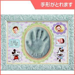 出産記念品 AG-07 エンジェルギャラリー ミッキーマウス&ミニーマウス angel 手形 想い出 思い出 記録 フレーム 御祝 御出産御祝 プレゼント テンヨー|pinkybabys