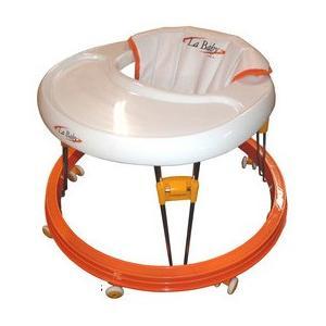 歩行器 La Baby オレンジ OR ラ  ベビー 歩行器 ウォーカー ベビー こども 御祝 ギフト パピー|pinkybabys