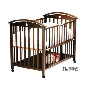 ベビーベッド サワベビー 澤田工業 日本製 ベビーベッド K型ローワン No.7 ダークブラウン ベット sawa bed|pinkybabys