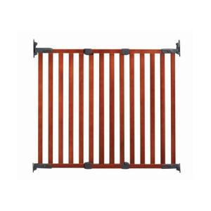 ベビーゲート 木製ゲイト・バリアフリー ブラウン BR フェンス 木製ゲイト バリアフリー ベビーフェンス ベビーゲート ゲート GATE gate セーフティ 日本育児*|pinkybabys