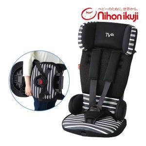 チャイルドシート トラベルベスト ECプラス ボーダー柄 ジュニアシート 1歳から 折り畳み 日本育児 買い替え 里帰り 一部地域送料無料 割引クーポン有|pinkybabys