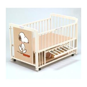 ベビーベッド 3WAYスヌーピー S-5 エコ ホワイト ベット 【送料無料 】 ※お届け指定・同梱不可※ キンタロー baby|pinkybabys