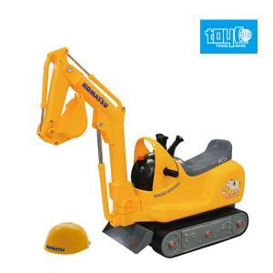 乗用玩具 足けり 室内 乗用マイクロショベル コマツ PC01 トイコー ショベルカー 働く車 おもちゃ 乗り物 おもちゃ 子供 キッズ 誕生日 プレゼント ギフト|pinkybabys