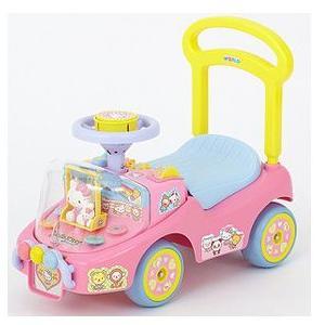 乗用玩具 乗用わくわくハローキティα 野中製作所 WORLD ワールド Hello Kitty 室内 三輪車 自転車 バランスバイク 遊具 おもちゃ プレゼント 誕生日 安全 安心|pinkybabys