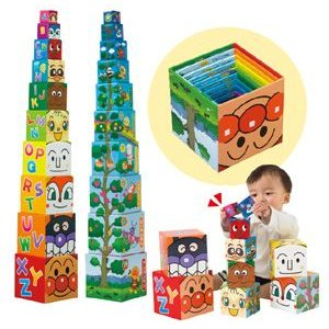 知育玩具 大きな木になるアンパンマン かさねていれてかぞえてABCキューブ アガツマ agatsuma Anpanman おもちゃ toys 積み木 誕生日プレゼント 発育 人気商品|pinkybabys