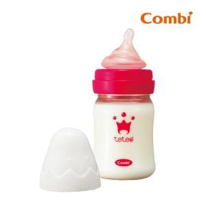 哺乳瓶 テテオ 授乳のお手本 哺乳びんプラスチック製 160ml SSサイズ乳首付 combi ほ乳びん ビン ベビー 赤ちゃん ミルク ほ乳ビン コンビ|pinkybabys