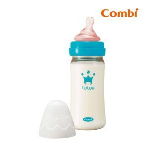 哺乳瓶 テテオ 授乳のお手本 哺乳びんプラスチック製 240ml Mサイズ乳首付 combi ほ乳びん ビン ベビー 赤ちゃん ミルク ほ乳ビン コンビ|pinkybabys