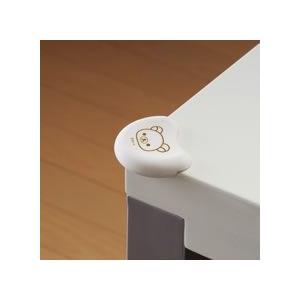 ゆうパケットOK リッチェル セーフティグッズ リラックマ コーナークッション 4個入り テーブルのカドをカバー Richell コーナー セーフティ 安全 室内*|pinkybabys