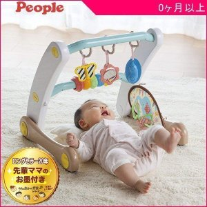 ベビージム うちの赤ちゃん世界一 スマート知育ジム&ウォーカー ピープル おもちゃ 室内遊具 押し車 ベビー キッズ 出産 お祝い プレゼント ギフト SNS|pinkybabys