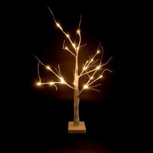 ハロウィン LEDホワイトブランチツリー 60cm 電池式 SA-2007WH友愛玩具 YOU&I パーティ 仮装 イベント カボチャ ドクロ おうちパーティ オンラインパーティ|pinkybabys