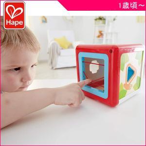 知育玩具 型はめボックス E0507A Hape ハペ おもちゃ 木製玩具 子供 キッズ kids 木のおもちゃ 指先の知育 ブロック 誕生日 ギフト プレゼント クリスマス|pinkybabys