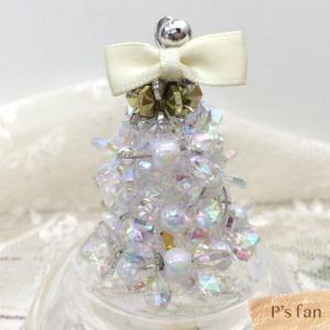 fanfanビーズキット  クリスマスミニツリー&リース ホワイト  |pioneer21ya|02