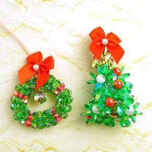 fanfanビーズキット  クリスマスミニツリー&リース グリーン  |pioneer21ya|02