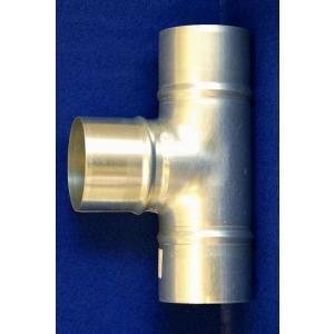クリモトスパイラルダクト(亜鉛めっき)T管(チーズ)φ125×φ125 【梱包なし】|pipeshop-y