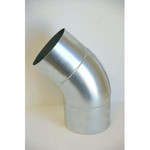 クリモトスパイラルダクト(亜鉛めっき)45°プレスベンド 1.0Rφ125  【梱包なし】|pipeshop-y