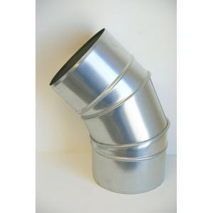 クリモトスパイラルダクト(亜鉛めっき)45°セクションベンド 1.0Rφ175  【梱包なし】|pipeshop-y