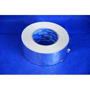空調用アルミテープ 幅50mm×50m巻  (剥離紙付、ツヤアリ)|pipeshop-y