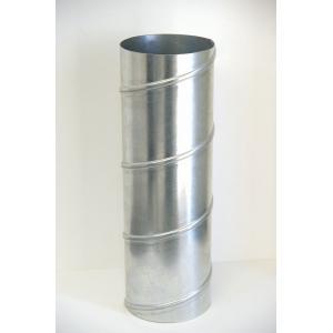 クリモトスパイラルダクト(亜鉛めっき)直管φ200×1000L (mm)  【梱包なし】|pipeshop-y