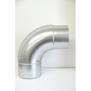 クリモトスパイラルダクト(亜鉛めっき)90°プレスベンド 1.0Rφ150  【梱包なし】|pipeshop-y
