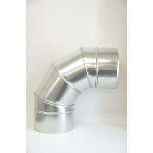クリモトスパイラルダクト(亜鉛めっき)90°セクションベンド 1.0Rφ200  【梱包なし】|pipeshop-y