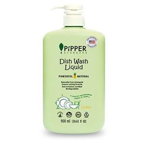 PiPPER STANDARD(ピッパースタンダード) パワフル&ナチュラル 食器用洗剤 900ml ポンプボトル 本体(シトラス)|pipperstandard