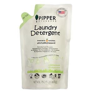 PiPPER STANDARD(ピッパースタンダード) パワフル&ナチュラル 洗濯用洗剤 750ml パウチ 詰替用 (レモングラス) pipperstandard