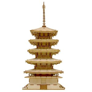 ki-gu-miは、手軽に組み立てられる、木製パズルです。五重塔は、抜群の存在感を放ちます。細やかで...