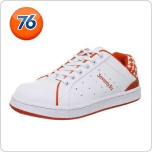安全靴 Union 76 Lubricants メンズ カジュアル 安全靴 ホワイト オレンジ 76...