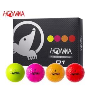 【 本間ゴルフ 】 D1 ゴルフボール マルチカラー(4色)1ダース HONMA piratesflag-cic