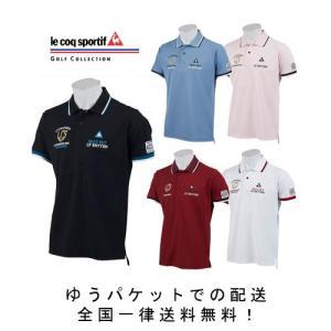 【ルコック】ゴルフウェア 半袖ポロシャツ QGMNJA08 マーキングデザインポロシャツ 【 lecoq sportif 】|piratesflag-cic