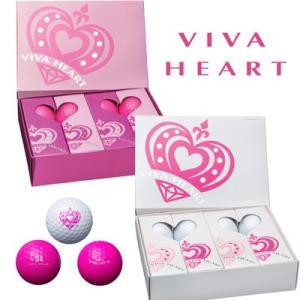 【 ビバハート】 ゴルフボール 1ダース(12球入り)/ VIVA HEART ホワイト/ピンク piratesflag-cic