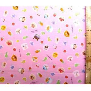 キャラクター 生地 アンパンマン ( ピンク )柄番号76 ( 2019 )  手芸 布 綿 ( プ...