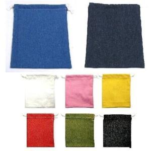 給食袋 ( 手作り 巾着袋 巾着 )デニム【デニムは商品の特性上若干の色落ちする場合があります。】 pirol