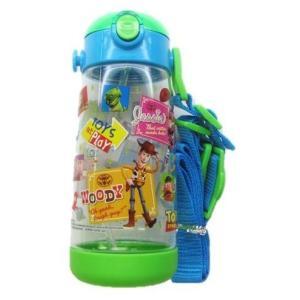 ◇ キャラクター 水筒 トイ ストーリー ( クリア ブルー グリーン ) 480ml ( ワンプッシュ ストローボトル ) pirol