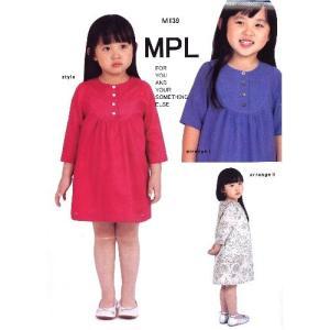 d6d66520e5b5a パターン ( 型紙 )・ヨークチュニックブラウス( 簡単 実物大 作り方 子供服 ベビー服 キッズ 洋服 )
