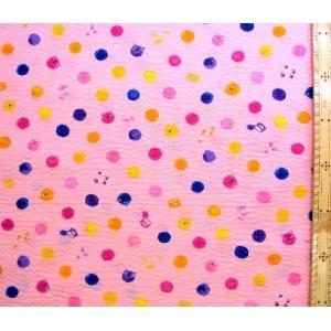 リップル 生地 水玉にゃんこ(ピンク)(布 浴衣 ゆかた 甚平 じんべえ) R-AP82601-1B-1854