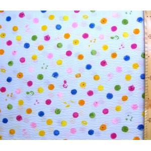 リップル 生地 水玉にゃんこ(ブルー)(布 浴衣 ゆかた 甚平 じんべえ) R-AP82601-1C-1855