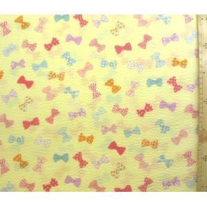 リップル 生地 リボン・リボン(イエロー)(布 浴衣 ゆかた 甚平 じんべえ) R-AP82601-2D-1853