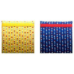 ザブトン ( 手作り 子供用 座布団 )てんとう虫 と 水玉