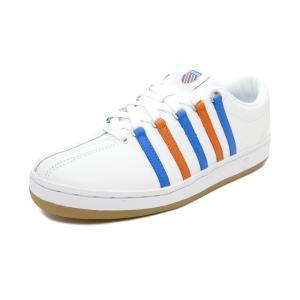 スニーカー ケースイス K-SWISS クラシック88ヘリテージ ホワイト/ブルー/オレンジ メンズ シューズ 靴 36060465 19SS|pistacchio
