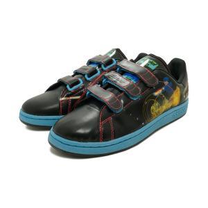 スニーカー アディダス adidas スタンスミス2 CF アディカラー トロン ブラック/アクア メンズ シューズ 靴 デッドストック pistacchio
