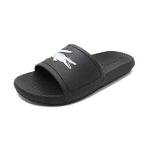 スニーカー ラコステ LACOSTE クロコスライド ブラック/ホワイト CMA0018-312 メンズ レディース シューズ 靴|pistacchio