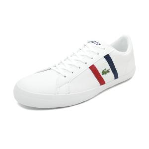 スニーカー ラコステ LACOSTE ルロン 119 3 CMA ホワイト/ネイビー/レッド メンズ シューズ 靴 19SS|pistacchio