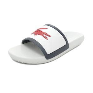 スニーカー ラコステ LACOSTE クロコスライド ホワイト/ネイビー/レッド CMA043L-407 メンズ レディース シューズ 靴|pistacchio