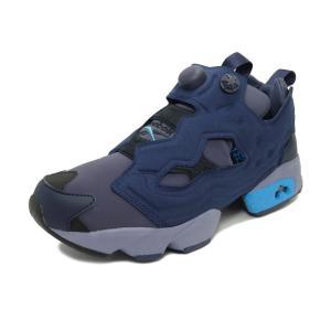 スニーカー リーボック REEBOK インスタポンプフューリーOG ヘリテージネイビー/ブライトシアン メンズ レディース シューズ 靴|pistacchio