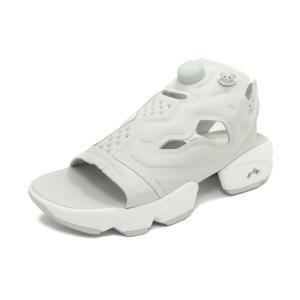 スニーカー リーボック REEBOK インスタポンプフューリーサンダル グレー/ホワイト メンズ レディース シューズ 靴|pistacchio