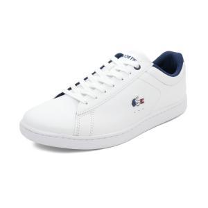 スニーカー ラコステ LACOSTE カーナビーエヴォ1197SFA ホワイト/ネイビー/レッド レディース シューズ 靴 19SP|pistacchio
